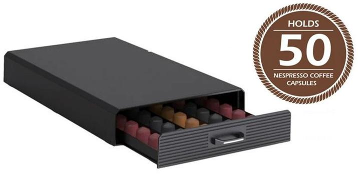 Συρτάρι Οργανωτής για 50 Κάψουλες καφέ Espresso, 40x24x6 cm, Capsule drawer
