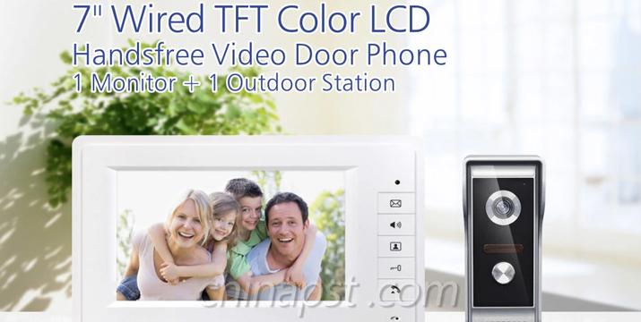 PST Σύστημα Εξόπορτας με Έγχρωμη Θυροτηλεόραση - handsfree video door phone cyprus