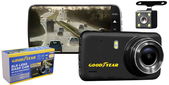 Goodyear 1080P dvr Dash Cam Recorder Cyprus - Μπροστινή και Πίσω Κάμερα Αυτοκινήτου
