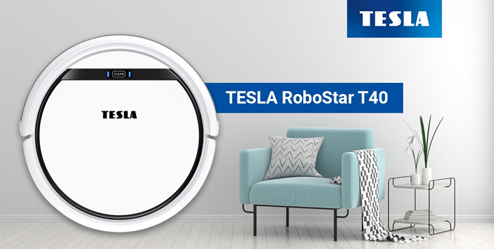 TESLA ROBOSTAR T40 ROBOTIC VACUUM CLEANER Ρομποτική ηλεκτρική σκούπα Κύπρο